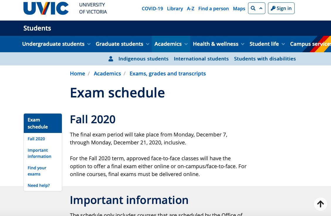期末考试时间信息