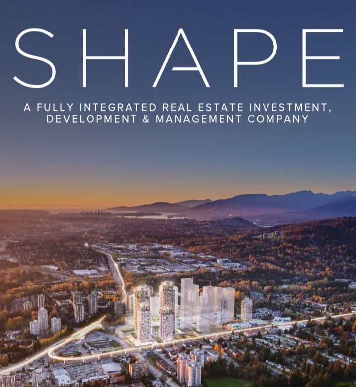加拿大西海岸Shape Development: 带您寻找最适合您的居住环境!